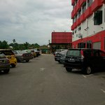 parking area outside..limited...