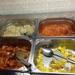 Rice, beans, pasta, eggs