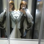 L'ascensore strettissimo! (The lift is very tight!)
