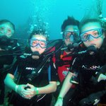 My crew diving with SCUBA