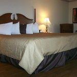 La chambre, un grand lit King