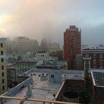 vista da janela em dia de fog