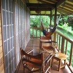 Bungalow 5 porch overlooking Caribbean