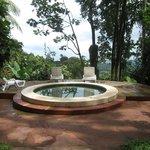 Hot tub overlooking Caribbean.