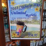 Unlimited drink mugs 'out of stock'