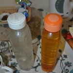 Oil bottle used for your water in the room - filthy