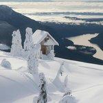 Tin Hat Hut mid winter - Emma Levez Larocque photo