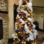the lobbies are decorated for the season for all to enjoy!