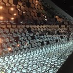 The ceiling of the entrance inside Harpa