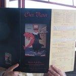 The Menu at Chez Victor