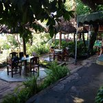 Outside breakfast area