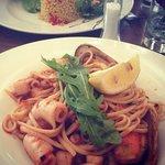 Seafood linguine...