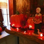 The decorations were enhanced by beautiful Thanksgiving arrangements.