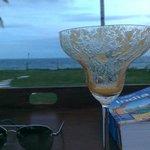 Mango daquiri by the beach and pool