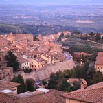 Montepulciano and surrounding Tuscan countryside