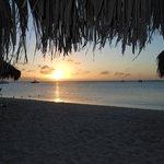Sunset on the Playa Linda Beach