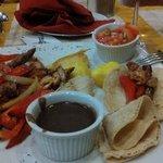 Fajitas at Montana de Fuego's restaurant