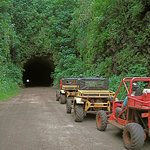 Travel through Kauai's only off-road tunnel
