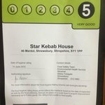 The Star Kebab & Pizza House Hygiene Rate