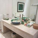 Spacious, modern bathroom