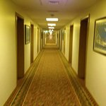 hotel corridor leading to my room