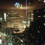 Night view of the CN Tower from a King Deluxe Corner Room