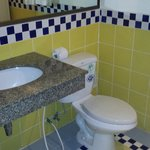 Toilet and basin area