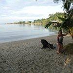 Morgenbadning i lunt og rent havvand