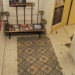 The nice floor tiles in the cellar and a few vintage posters