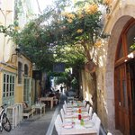 charming street tables