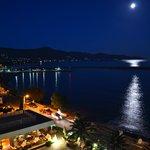 Full moon balcony view