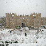 snow in jerusalem 2013