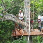 Canopy zip slide
