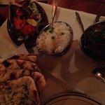 Garlic naan, lamb bhuna & the tandoori grill!