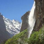 Staubbachfall Lauterbrunnen bei Camping Jungfrau