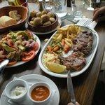 massive plate of pork chops