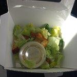 Tiny salad portions