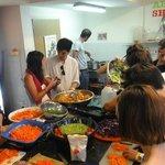 Kitchen during Shabbat Dinner