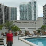 pool area of Courtyard Downtown Miami
