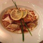 Almond crusted sea bass