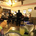 Mexican buffet complete with mariachi band