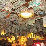 One Dollar Bill ceiling!!