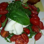 Buffalo mozzarella with arugala - Excellent