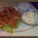 Nutz Deep II Coconut Shrimp with Potato Salad