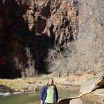 Beautiful hike through a narrow canyon following the river