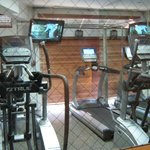 Fitness room has four machines