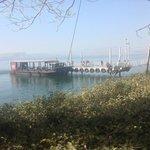 l'embarcadère pour la traversée du lac