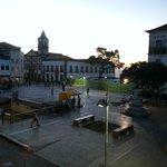 La Praça da Se desde el desayunador