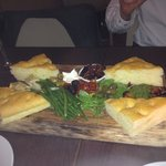 Antipasti. Presented on a lovely wooden plank