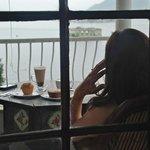 Coffee on the balcony